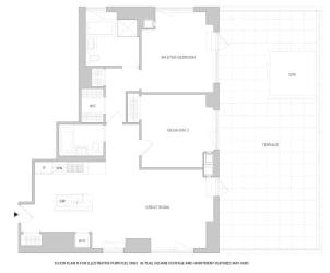 2Br 2Bth 2 Floorplan at The Aldyn