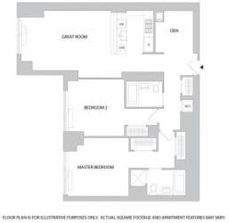 2Br Den 2Bth 1 Floorplan at The Aldyn