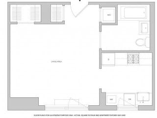 Studio 1 Floorplan at The Aldyn