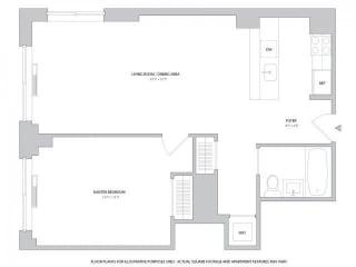 1BR 1Bth - 4 Floorplan at The Ashley