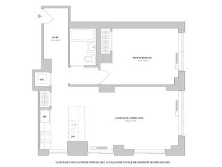 1BR 1Bth - 5 Floorplan at The Ashley
