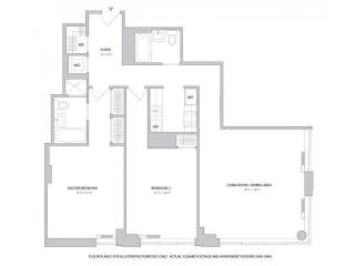2BR 2Bth - 4 Floorplan at The Ashley