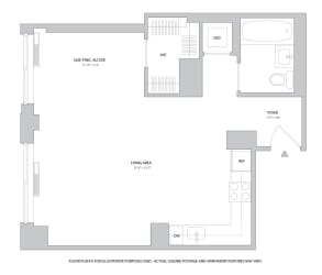 Studio3 Floorplan at The Ashley