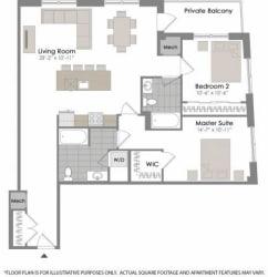 Floorplan at Twenty50 by Windsor, 2050 N. Central Rd., Fort Lee, NJ 07024