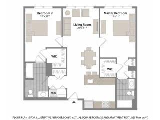 Floorplan at Warren at York by Windsor, 120 York St., Jersey City, NJ 7302