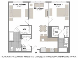 Floorplan at Warren at York by Windsor, 120 York St., Jersey City, NJ 7302