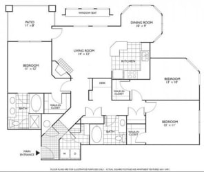 Devereaux Floorplan at Reflections by Windsor