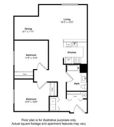 South Pacific Floor Plan at Tera Apartments