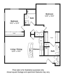 St Pierre Floor Plan at Tera Apartments