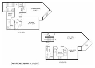 MacLaren Hill Apartments in St. Paul, MN 2 Bedroom 1.5 Bathroom Apartment