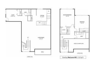 MacLaren Hill Apartments in St. Paul, MN 2 Bedroom 1.5 Bathroom Apartment