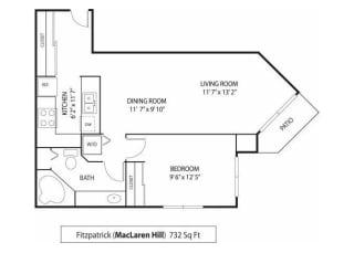 MacLaren Hill Apartments in St. Paul, MN 1 Bedroom 1 Bathroom Apartment