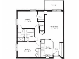 Vernon Terrace of Edina in Edina, MN 55+ Community 2 Bedroom 2 Bath