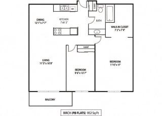 Floor Plan Birch and Cottonwood