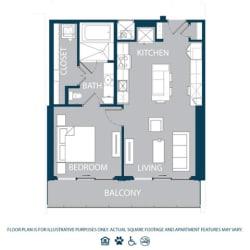 Floorplan at The Jordan, 2355 Thomas Ave, Dallas, 75201
