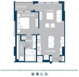 Floorplan at The Jordan, Dallas, TX 75201