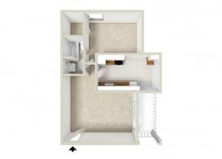 Floor Plan 1BR-1BA A