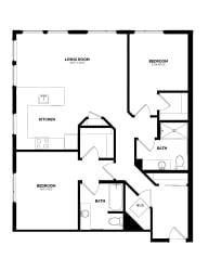Floor Plan B-4 Two Bedroom/Two Bath