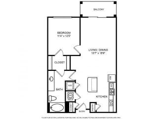 Floorplan at The Ridgewood by Windsor, 4211 Ridge Top Road, Fairfax