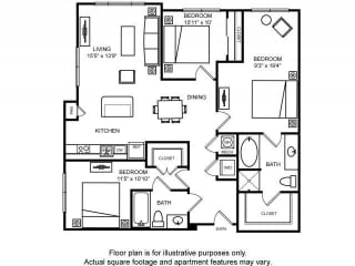 Floorplan at The Ridgewood by Windsor, Fairfax, 22030
