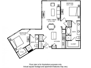 Floorplan at The Ridgewood by Windsor, 4211 Ridge Top Road, Fairfax