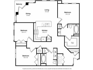 Floorplan at The Ridgewood by Windsor, 4211 Ridge Top Road, Fairfax, VA 22030