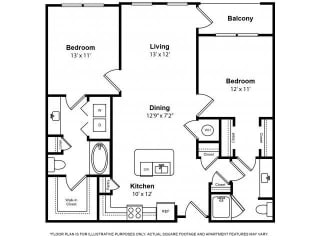 Floorplan at The Ridgewood by Windsor, 4211 Ridge Top Road, 22030