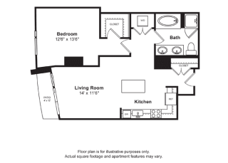 Floorplan at Cirrus, WA 98121