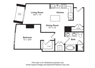 Floorplan at Cirrus, Seattle, Washington