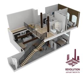 Revolution Mill Townhome A floorplan