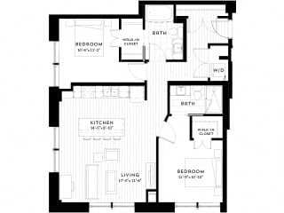 2G upgrade Floor plan at Custom House, Minnesota, 55101