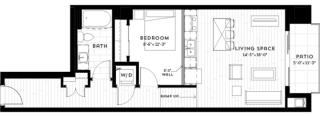 1W Floor plan at Custom House, St. Paul