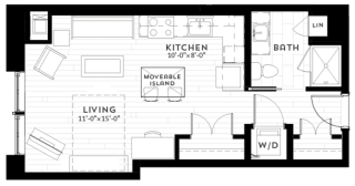 S1 Floor plan at Custom House, St. Paul, MN