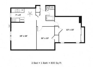 Floor Plan 2 Bedroom