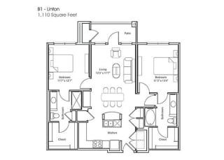 Floor Plan B1-Linton