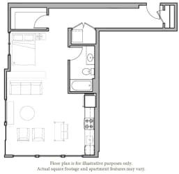 Floorplan at The Whittaker, Seattle