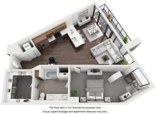 Floor Plan at 1000 Speer by Windsor