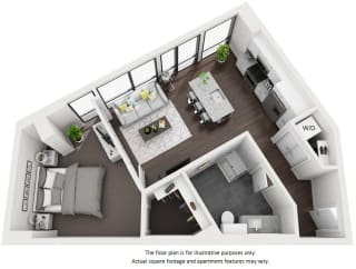 Floor Plan at 1000 Speer by Windsor