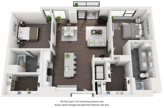 2 bedroom apartments at 1000 Speer by Windsor