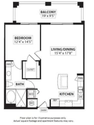 Floorplan at Windsor at Doral,4401 NW 87th Avenue, Miami,FL