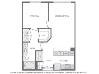Floorplan at Windsor at West University, 2630 Bissonnet Street, Houston, 77005