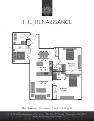 The Florence 3 Bed 2 Bath Floor Plan at Renaissance at the Power Building, Ohio