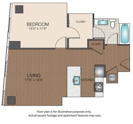 A2c Floorplan at The Victor