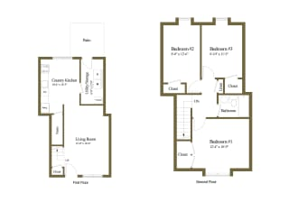 Floor Plan 3 Bedrooms 1 Bath