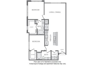 B8 Floorplan at Windsor South Lamar