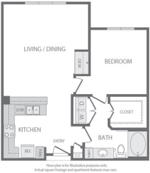 A7 Floorplan at Windsor South Lamar, Austin
