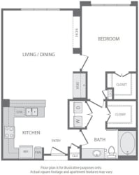 A8 Floorplan at Windsor South Lamar, Austin