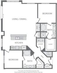 B10 Floorplan at Windsor South Lamar, Austin