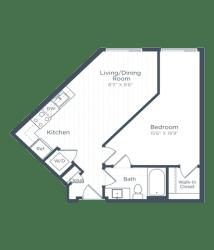A3 Floor Plan at Highgate at the Mile, McLean, VA
