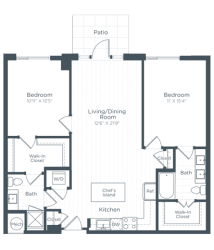 B3 Floor Plan at Highgate at the Mile, Virginia, 22102